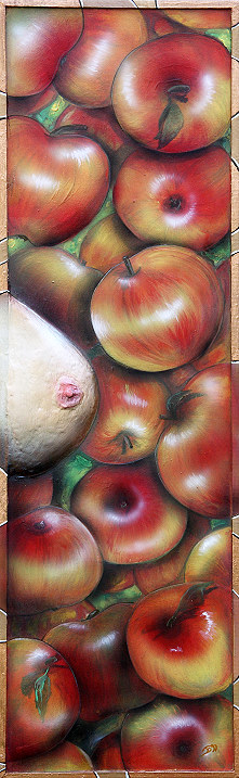 apples and eve, äpfel , apfel, busen by Christine Dumbsky